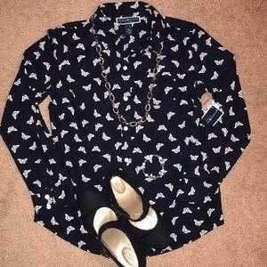 Women's petite blouse size S